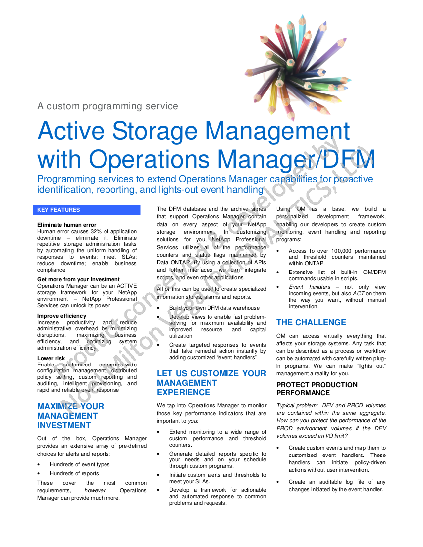 Marketing Glossy: Event-Driven Framework for Light-Out Self-Healing of Network Appliance (NetApp) Enterprise Storage Arrays