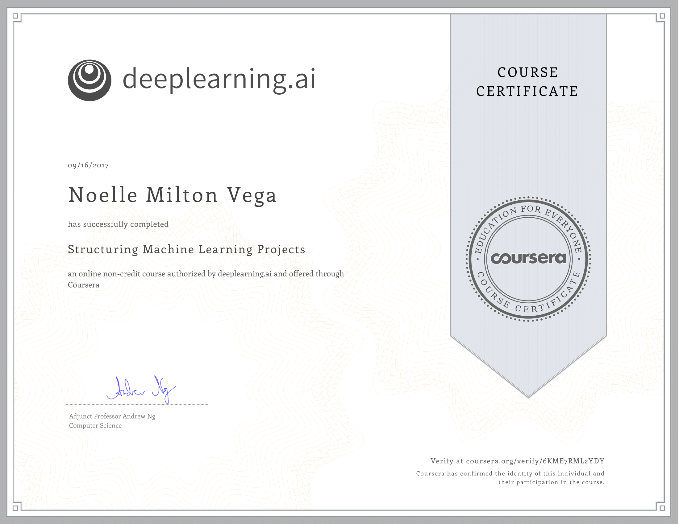 COURSERA: STRUCTURING MACHINE LEARNING PROJECTS | ANDREW NG