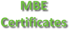 MBE Certificates